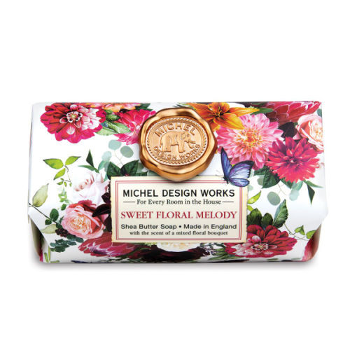 Sweet Floral Melody Large Soap Bar by Michel Design Works