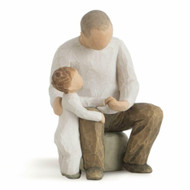 Willow Tree Figurine - Grandfather by Susan Lordi 26058 a resin figurine of a grandfather and child