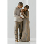 Willow Tree Figurine - We are Three by Susan Lordi 27268 resin figure of parents with a new baby