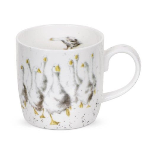 Royal Worcester Wrendale Goosie Goosie 310 ml- gift boxed a mug with images of geese