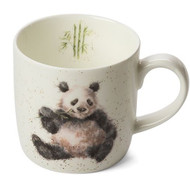 Royal Worcester Wrendale Panda Bamboozled 310 ml- gift boxed a china mug with images of a panda
