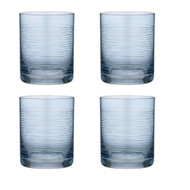 Linear Etched Blue Glass Tumbler by Ladelle set of 4 blue glass tumbler with etched lines
