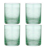 Linear Etched Green Glass Tumbler by Ladelle set of 4 green glass tumblers with etched lines