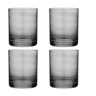 Linear Etched charcoal Glass Tumbler by Ladelle set of 4 charcoal glass tumbler etched with lines