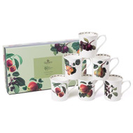 Queens William Hookers Fruit Mugs Set of 6 - Gift Boxed