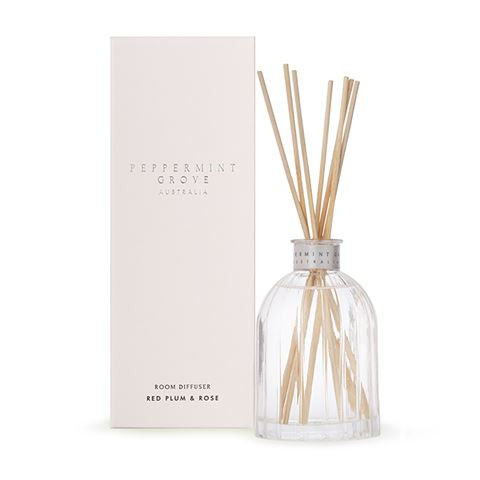 Peppermint Grove Reed Diffuser 100ml - Red Plum & Rose