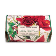 Merry Christmas Large Bar Soap by Michel Design Works