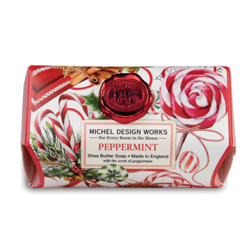 Peppermint Large Bar Soap by Michel Design Works