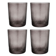 Artemis Charcoal Glass Tumbler by Ladelle - set of 4