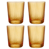 Artemis Amber Glass Tumbler by Ladelle - set of 4