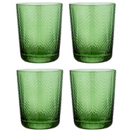 Artemis Green Glass Tumbler by Ladelle - set of 4
