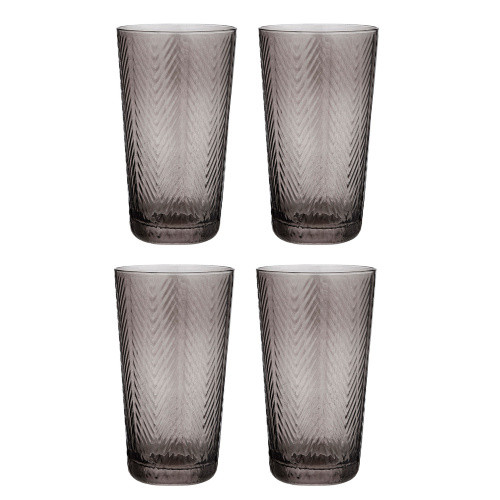 Artemis Charcoal Highball Tumbler by Ladelle - set of 4