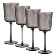 Artemis Charcoal Wine Glass by Ladelle - set of 4