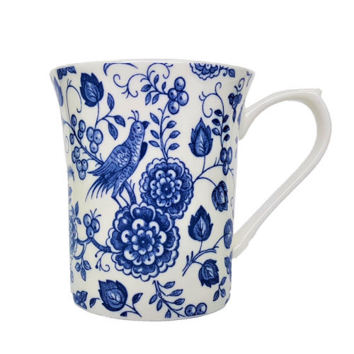 Queens Blue Story Classic Nankin Royale Mug by Churchill - gift boxed