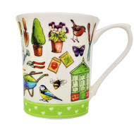 Queens Royale Mug Living the Dream - Garden Life by Churchill - Gift Boxed