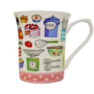 Queens Royale Mug Living the Dream - Cake Life by Churchill - Gift Boxed