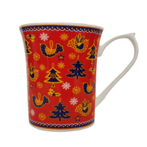 Queens Xmas Royale Mug - Red by Churchill - Gift Boxed