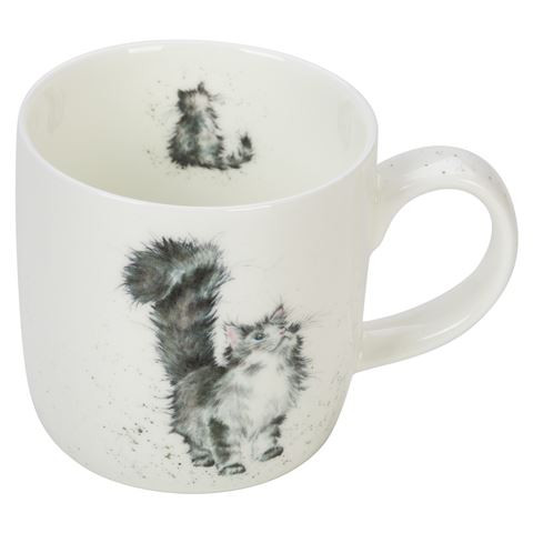 Royal Worcester Wrendale Lady of the House Cat Mug 310 ml - gift boxed
