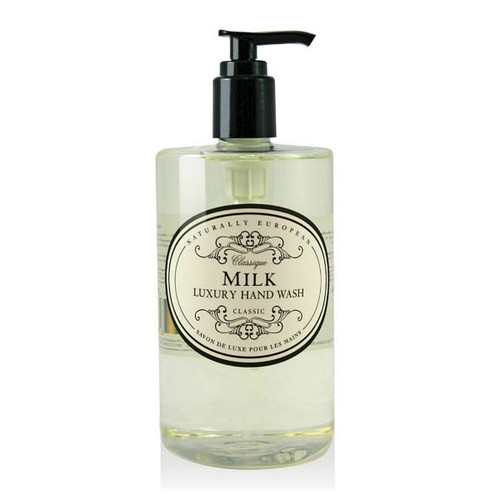 Naturally European Hand Wash with Milk Fragrance. 500 ml pump bottle.