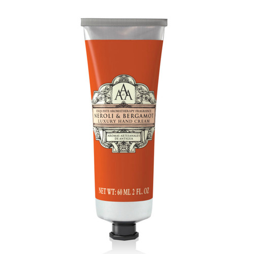 Neroli and Bergemot Hand cream from AAA. Beautiful gift giving, perfect moisturizing