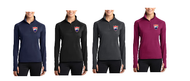 FUSION SOCCER LADIES 1/2 ZIP PULLOVER