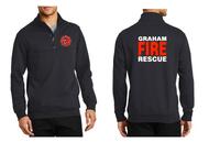 GRAHAM FIRE DEPT. STATION 95 1/4 ZIP SWEATSHIRT