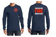 GRAHAM FIRE DEPT. STATION 95 TALL LONGSLEEVE T-SHIRT