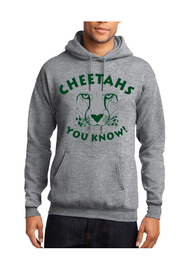 CHEETAHS TRACK CLUB ADULT HOODED SWEATSHIRT