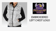 PUYALLUP CHEER PARENT/FAN SHERPA VEST