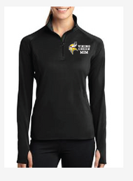 PUYALLUP CHEER PARENT/FAN  LADIES SPORT WICK STRETCH 1/2 ZIP PULLOVER