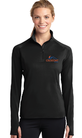 CRESCENT REALTY LADIES SPORT WICK STRETCH 1/2 ZIP PULLOVER