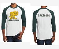 OAKBROOK STAFF 3/4 RAGLAN SLEEVE T-SHIRT