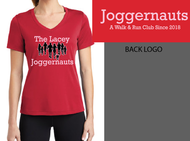 LACEY JOGGERNAUTS LADIES VNECK DRI-FIT T-SHIRT