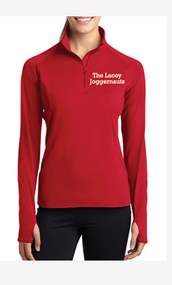 LACEY JOGGERNAUTS LADIES SPORT WICK STRETCH 1/2 ZIP PULLOVER