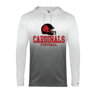 FP HS FOOTBALL OMBRE LONGSLEEVE HOODED T-SHIRT