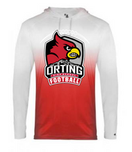 ORTING HS FOOTBALL OMBRE HOODED TEE