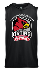 ORTING HS FOOTBALL SLEEVELESS HOODED T-SHIRT