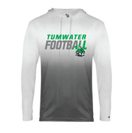 TUMWATER FOOTBALL OMBRE HOODED TEE