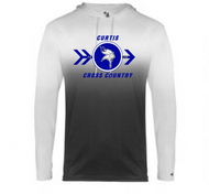 CURTIS CROSS COUNTRY OMBRE HOODED TEE