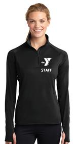 YMCA CHILD CARE STAFF  LADIES SPORT WICK STRETCH 1/2 ZIP PULLOVER