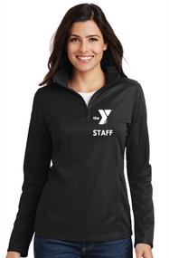 YMCA CHILD CARE STAFF LADIES PINPOINT MESH 1/2 ZIP PULLOVER