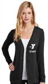 YMCA CHILD CARE STAFF LADIES CARDIGAN SWEATER