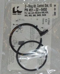 CONTROL DIAL O-RING SET FOR KING IG FEEDER & FROG IG CYCLER (01-22-9450)