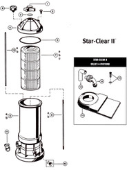 HAYWARD STAR CLEAR II™ CARTRIDGE FILTER PARTS