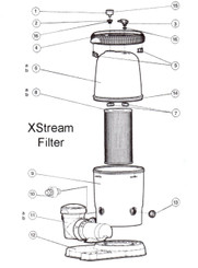 HAYWARD XSTREAM CARTRIDGE FILTER PARTS