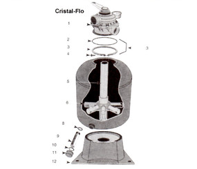 Sta-Rite Crystal Flo T-BP Series Sand Filter Parts
