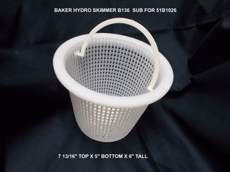 Basket for Baker Hydro Skimmer, Generic Replacement for 51B1026 (B136)