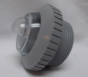 Threaded Return, Downjet, Light Gray (004-252-3032-08)