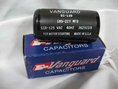 189-227 MFD STARTING CAPACITOR, 115 VAC (189-227)