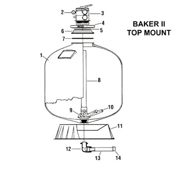 Baker Hydro Baker II Top Mount Sand Filter